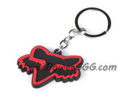 Red New Rubber Motorcycle Cool Keychain Key Chain Keyring For Fox Head Racing KC12