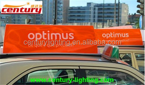 car led roof sign