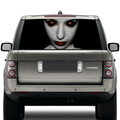 latest hot sale scared high beam ghost decal car rear windshield graphic decal self adhesive decorative window film