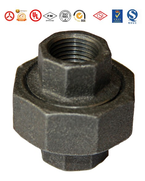 Malleable black cast iron pipe fitting elbow degree