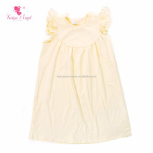Solid Color Knit Cotton Kids Frocks Design Teen Girls Wear Dresses