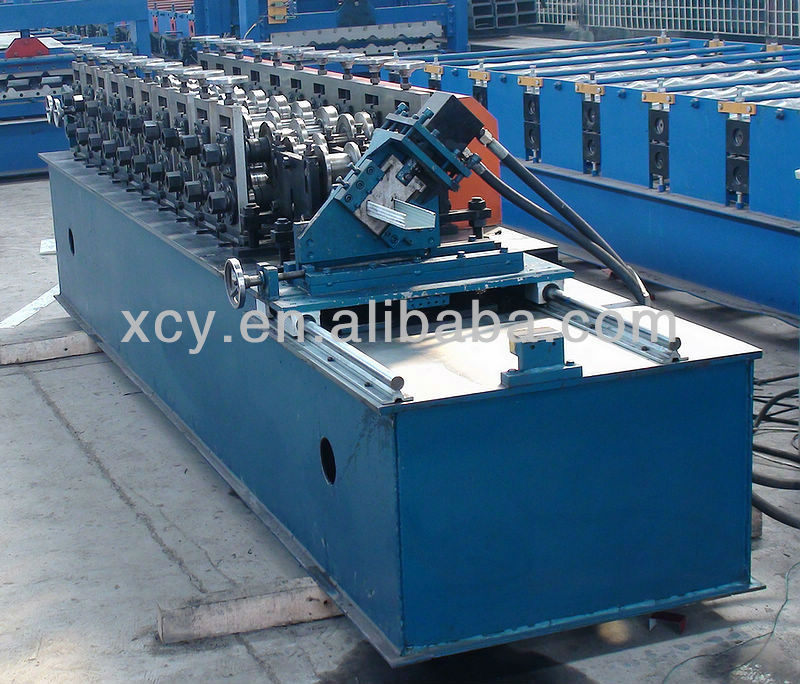 drywall board steel lining steel plate roller former machine roll forming gypsum board fasten steel truss machine