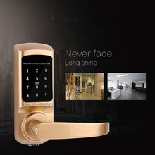 Hidden keyhole home electronic digital door lock parts names with card