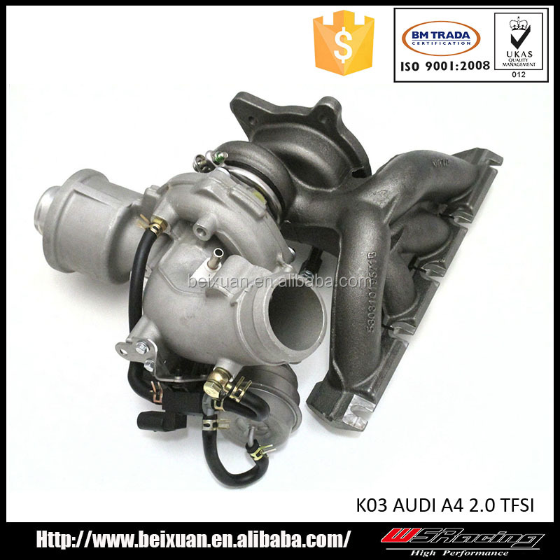 K03 Turbo for AUDI A4 2.0 TFSI turbocharger with manifold