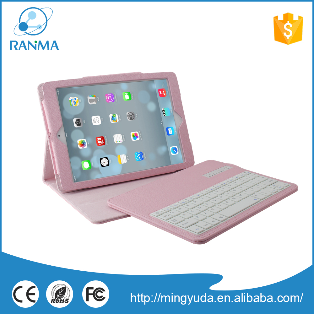 Hot Selling flip stand leather bluetooth keyboard case for ipad air