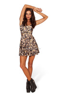Summer Fashion Print Halter Neck Dress Sleeveless Mini Skater Dress LY007
