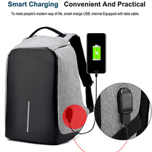 Anti-theft Travel Waterproof Backpack Business Laptop Book School Bag with USB Charging Port