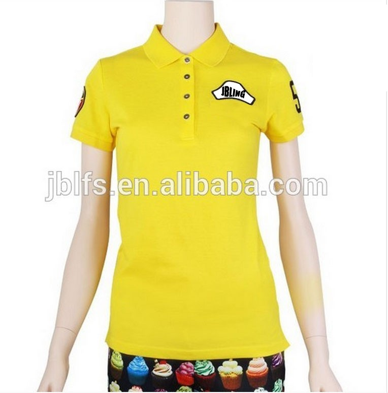 woman's brand golf polo tee