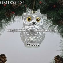Wholesale 2013 christmas tree hanging silver owl decoration