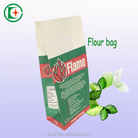 coated flour paper bag with logo printing/ laminated wheat flour paper bag wholesale