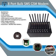 Gsm modem 8 port/ multi sim gsm modem 3g dongle with free software SMS caster