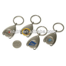 metal coin holder keychain
