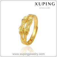 Xuping New Design Fashion 24K gold color Ring High Quality Charming Jewelry 13598