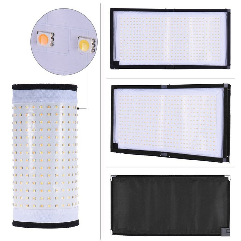 2.4GHz 30x60 CM Flexible Bi-color led photographic light or Led photo light