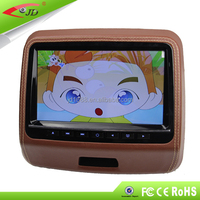 9inch slim headrest monitor car dvd player with native 32 bit games