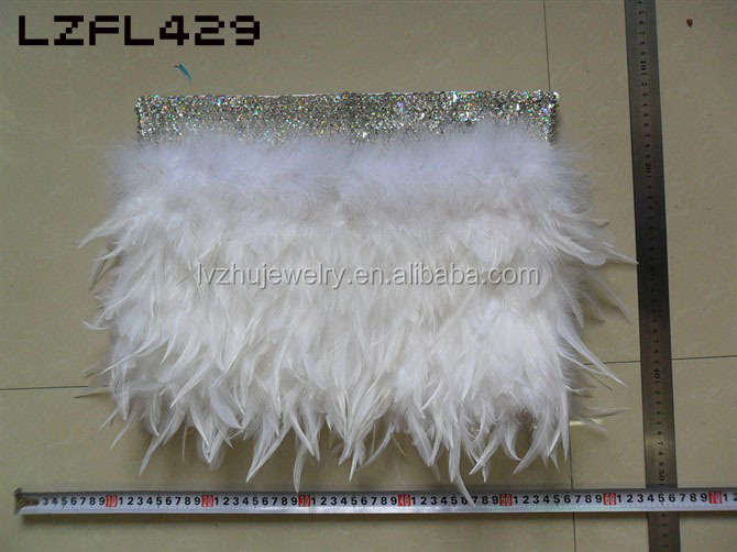 Showgirl/Dance Burlesque Feather Costume Mini Skirt LZFL429