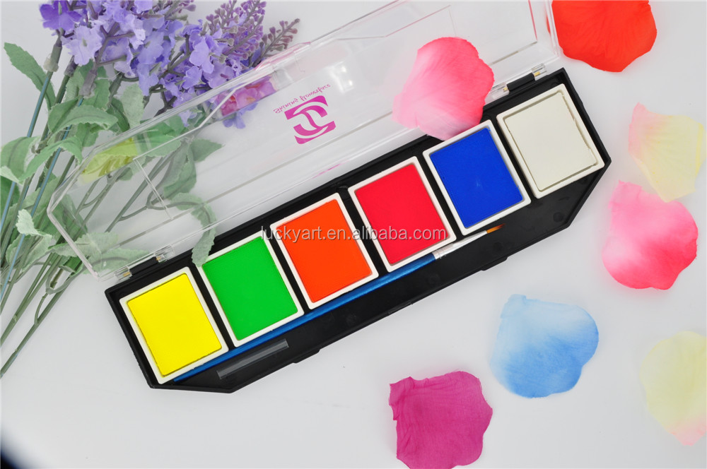 face and body paint 6 color box 1000-dtt27