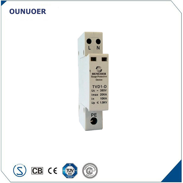 Whole house single phase 20ka surge protector for lightning protection