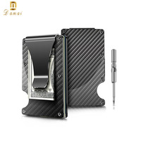 2018 Upgraded Version Minimalist rfid wallet carbon fiber fiber slim wallet