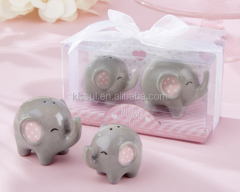Baby souvenirs of Little Peanut Elephant Salt and Pepper Shakers baby shower party favors