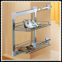 Metal wardrobe wire shoe designs rack for sale