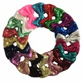 4'' sequin hair bows baby girl's sequin bow hair accessories