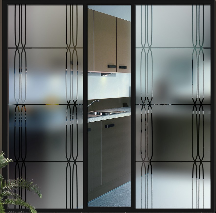 Puertas de aluminio con cristal para exterior amazing for Puertas de cocina modernas