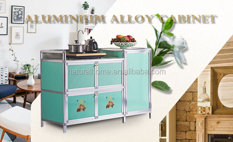 New Arrival Products Aluminium Kitchen Storage Cabinet With Dish Rack