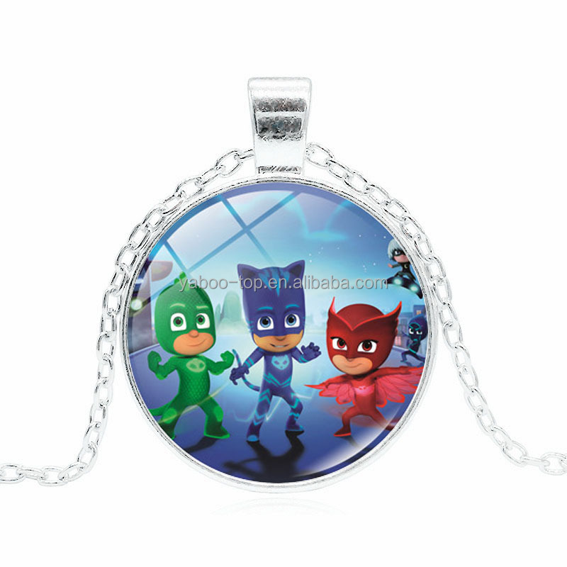 (New Arrival) 2017 Hot PJ Mask Necklace , Cartoon Children Necklace , Cheap DIY Necklace