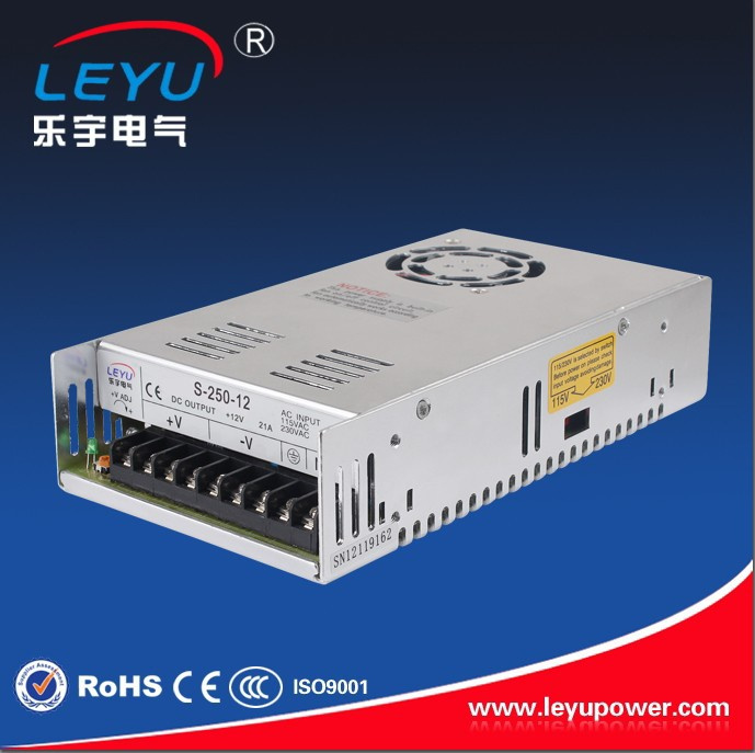 CE ROHS Chinese supplier high frequency 12v 20a dc power supply 250w led driver s-250-12 housing converter