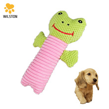 Wilston durable top quality Plush cat toy stuffed dog <strong>pet</strong> toys green frog shaped