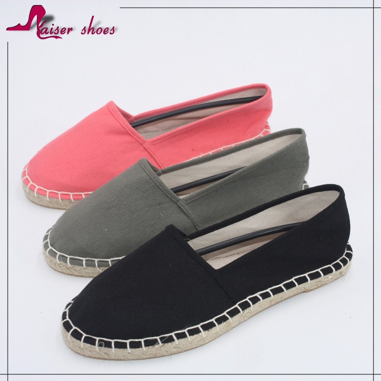 cheap wholesale espadrille white canvas shoe in china wholesale fashion canvas shoe