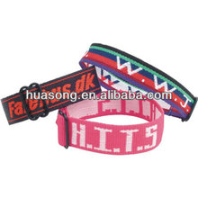 Christmas polyester woven wristband, New Product on China Market