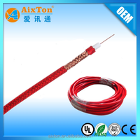 Online shipping red color outdoor waterproof cable RG6 coaxial