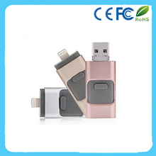 3 in 1 OTG Usb flash drive for Android Phone/Computer/Iphone with Custom Logo