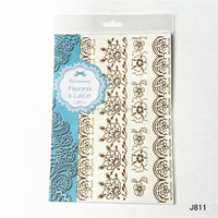 New product gold and white lace tattoo temporary tattoo sticker beauty body art