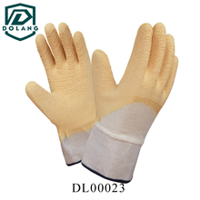 Latex coated palm of fingers to improve better grip, increase abrasion and wet resistant gloves