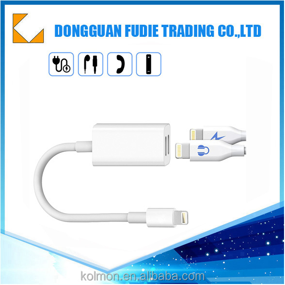 Audio jack adapter for i phone 7 Charge And Audio plug 2 in 1 adapter for apple lightning to 3.5mm usb adapter
