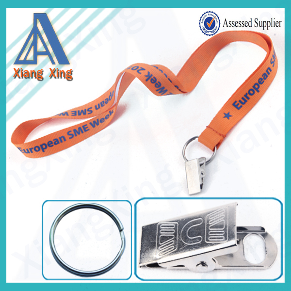 Novelty products chinese student id cards lanyard with bulldog clip