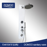 Silvery white thermostatic brush 304 stainless steel shower panel