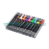 Chalk Pens - Pack of 10 neon colour markers. Used on Chalkboard, Window, Labels, Bistros, Glass, Whiteboard. Water based wet wip
