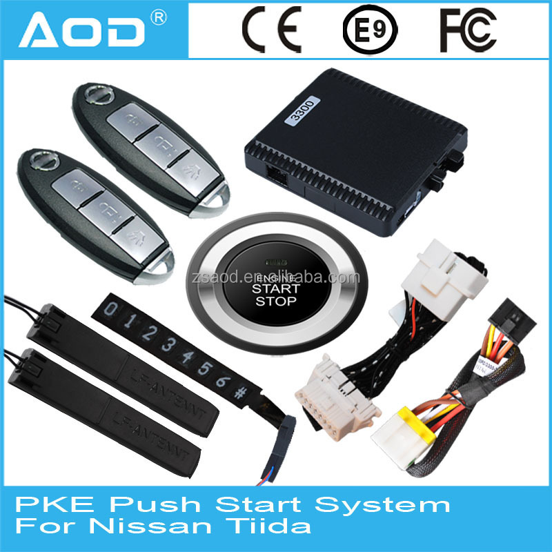 For Nissan Tiida Smart key remote control module 433mhz system security car alarm