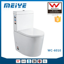 Two-Piece Washdown Watermark Toilet S/P Trap with Geberit or R&T Flush Valve Soft Closing Cover, Australian WELS WC-6010