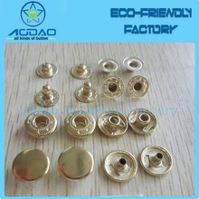 Fantastic Matt Gold Four Parts Snap Button Press Button With Custom Logo