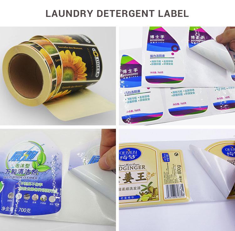 vinyl waterproof transparent decoration printing design decals sticker with logo