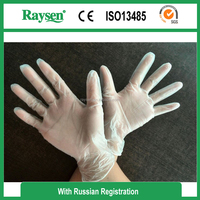 factory cheap vinyl glove, light powdered exam vinyl glove