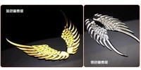 3 d stereo metal car post/angel/metal/car sticker/angel wings