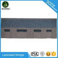 Colorful Laminated shingle asphalt roof,roofing material with low price