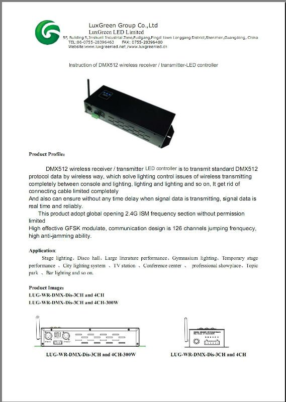 3ch/4ch/5ch wireless dmx decoder, rgb rgbw rgbaw led controller with 3 years warranty