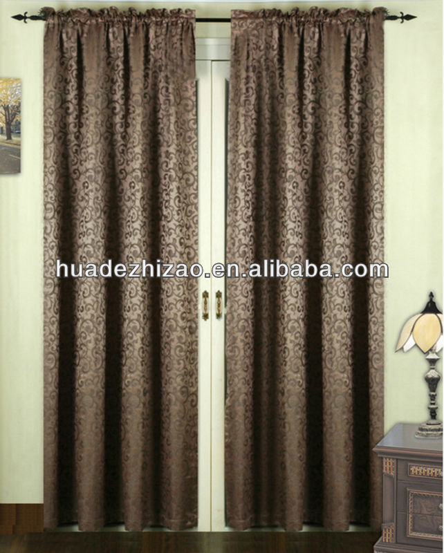 "Rod Pocket Panel Home Style Stock Curtain Finished Jacquard Curtain54""*84"""